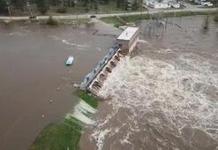 ABD'de baraj çöktü