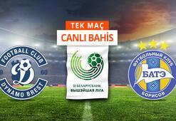 Dynamo Brest - BATE maçı Canlı Bahis ve Tek Maç seçenekleriyle Misli.com'da