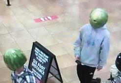 Karpuz maskesiyle büfeyi soydular