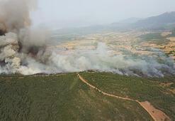 Son dakika Muğla ve Kütahyada ormanlık alanda korkutan yangın...
