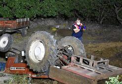 Manisada traktör devrildi, bir kişi ağır yaralandı