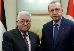 Son dakika... Cumhurbaşkanı Erdoğan Filistin lideri Mahmud Abbas ile görüştü