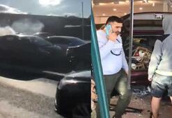 Müslümanlara yönelik kıyafet satan mağazaya araçla daldı