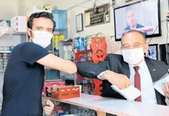 Sanayi esnafına maske desteği...