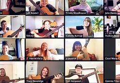 Karantina döneminde çevrimiçi müzik dersi