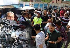 Kaza yerinde sosyal mesafe uyarısında bulunan polis ekipleri saldırıya uğradı