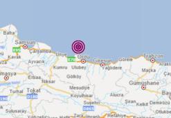 Son dakika Karadenizde korkutan deprem