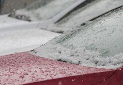 Son dakika İstanbula sabah saatlerinde dolu yağdı Meteorolojiden flaş uyarı