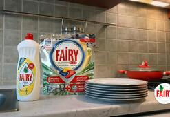 Dolu tabaklara sahip çıkmak sizden boş tabakları tertemiz yapmak Fairy'den