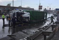 Çöp kamyonu devrildi: 1 ölü, 1 yaralı