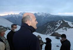 Bakan Soylu, İkiyaka Dağlarında üs bölgesinin açılışını  yaptı