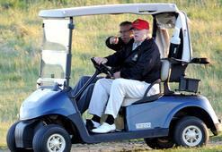 Son dakika | Corona virüs salgını devam ederken Trump golf oynadı