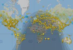 Dünyada günlük uçuş trafiği 22 Mart sonrası ilk kez 100 bini geçti