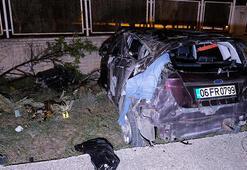 Bahçe duvarına çarpan otomobilin sürücüsü hayatını kaybetti