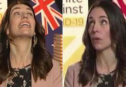 İşte Yeni Zelanda Başbakanı Jacinda Ardern'in canlı yayında depreme yakalandığı anlar...