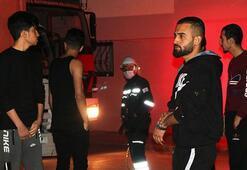 Sakarya'da büyük panik 2 katlı bina alev alev yandı