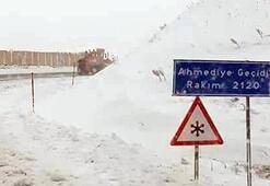 Erzincanda kışı aratmayan görüntü Mayıs ayında kar yağdı