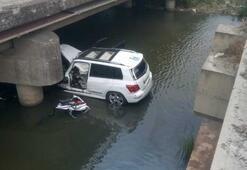 Silivri'de feci kaza Dereye uçan aracın sürücüsü öldü