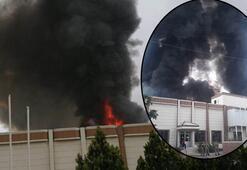 Son dakika Şanlıurfa'da iplik fabrikasında yangın