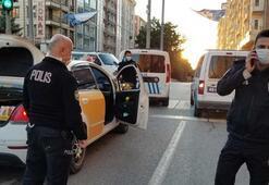 Taksiyle içki satarken bekçiye yakalandı