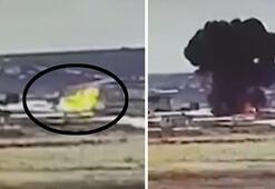 Rusyada meydana gelen askeri helikopter kazası kameraya böyle yansıdı