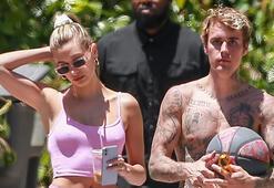 Justin Bieber-Hailey Baldwin çifti basketbol oynadı