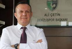 Denizlispor Başkanı Ali Çetin, kulübün 54. kuruluş yıl dönümünü kutladı