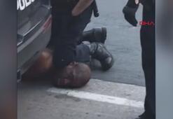 ABDde polisin şüpheliyi boğarak öldürdüğü anlar kamerada