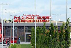 Salgın hastanesine Prof. Dr. Murat Dilmener Acil Durum Hastanesi yazılı yeni tabela takıldı