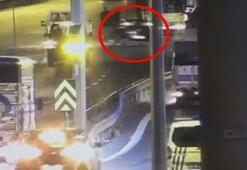 Alkollü sürücü denetleme yapan trafik polisine çarpıp kaçtı