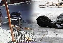 Sultangazide 60 yaşındaki adamın kafasına caraskal böyle düştü