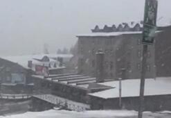 Uludağda kar yağışı başladı