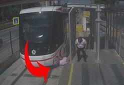 Samsunda meydana gelen tramvay kazaları kameralara yansıdı