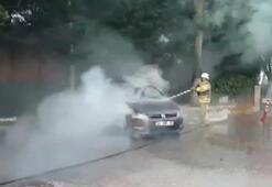 Silivride otomobil, Çatalcada TIR dorsesi yandı