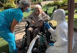111 yaşındaki kadın corona virüsü yendi
