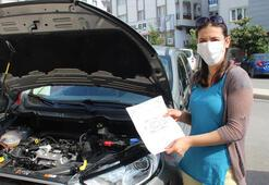 Aracının ekspertiz raporunda yazanları gören kadın şoke oldu