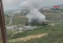 Son dakika Başakşehirde fabrikada patlama