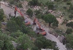 Cudide PKKlı teröristler kalekol inşaatına saldırdı