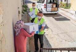 Mültecilere hijyen paketi dağıtıldı