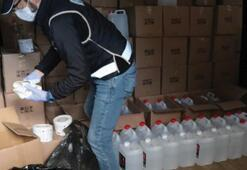 Sekiz ton sahte etil  alkol ele geçirildi