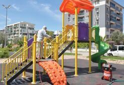 Parklar çocuklar için temizlendi