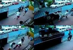 Top oynayan çocuklar polisi görünce böyle kaçtı