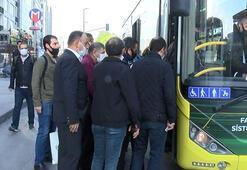 İstanbulda yollar boş ama... Vatandaşın otobüs isyanı