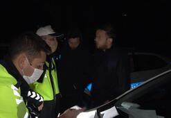 Stajyer ehliyetle polise alkollü yakalanan gençten ilginç tepki Yaktınız beni