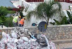 Son dakika... Özdilin villasındaki yıkım sürüyor