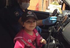 Küçük kız polisi görünce önce korktu ardından da...