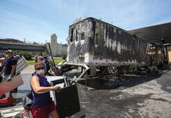 Minneapoliste tanker dehşeti Binlerce protestocunun üzerine sürdü