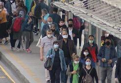 Normalleşmenin ilk sabahında insan ve trafik yoğunluğu oluştu