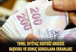 10 bin TL temel ihtiyaç desteği kredisi başvuru ve sonuç sorgulama sayfası için tıkla Ziraat Bankası, Vakıfbank, Halkbank 6 ay ödemesiz kredi başvurusu nasıl yapılır