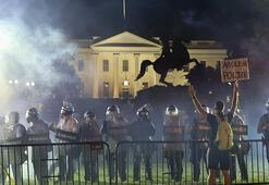 Trump, Beyaz Saray önündeki protestolar sırasında yeraltı sığınağına götürüldü